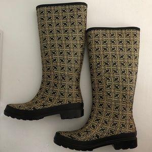 Tory Burch Rubber Logo Rain Boots - Size 7
